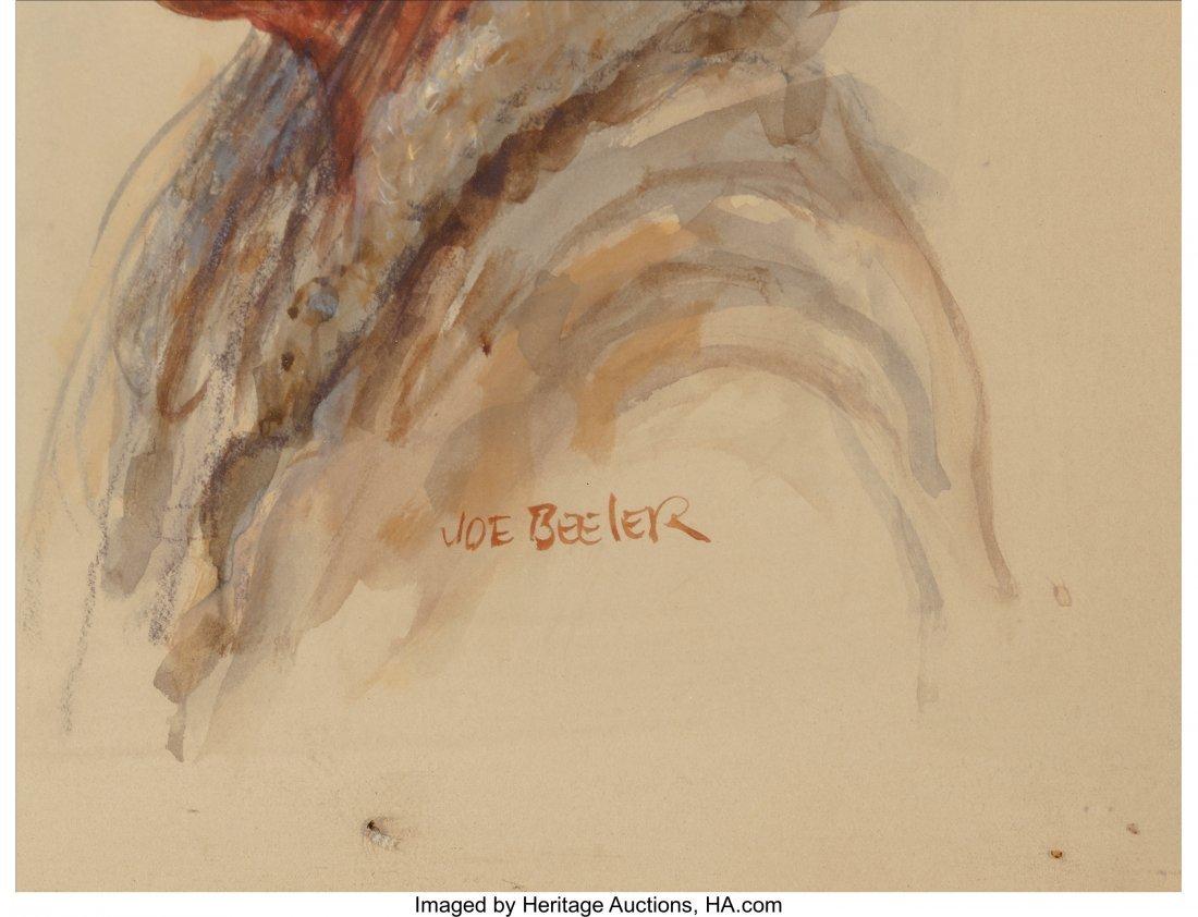 61057: Joe Beeler (American, 1931-2006) Navajo Man Wate - 2