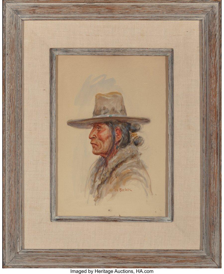 61057: Joe Beeler (American, 1931-2006) Navajo Man Wate - 3