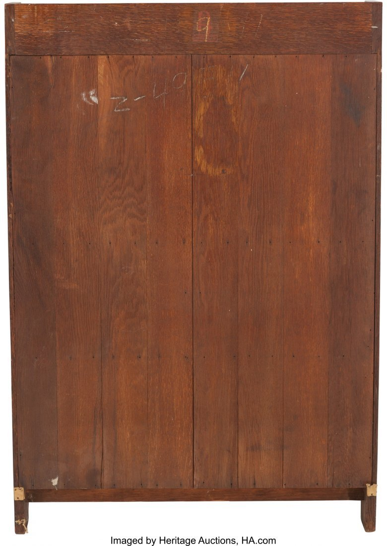 61158: A Gustav Stickley Arts & Crafts Oak Slant - 2