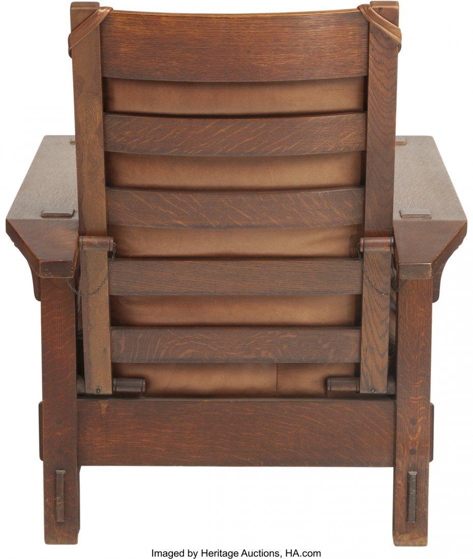 61159: A Charles Stickley Arts & Crafts Oak Morris Chai - 2