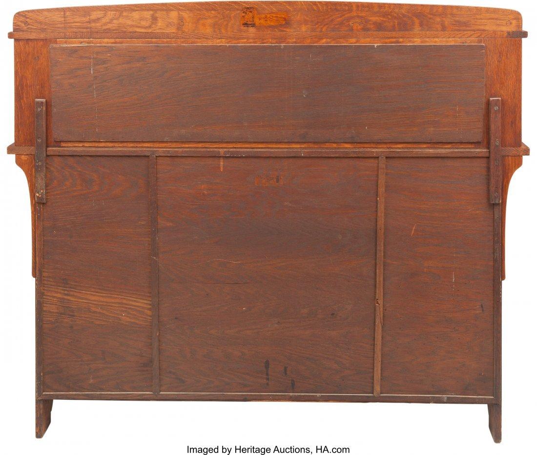 61170: A Limbert Arts & Crafts Oak Mirrored Sideboard 5 - 2