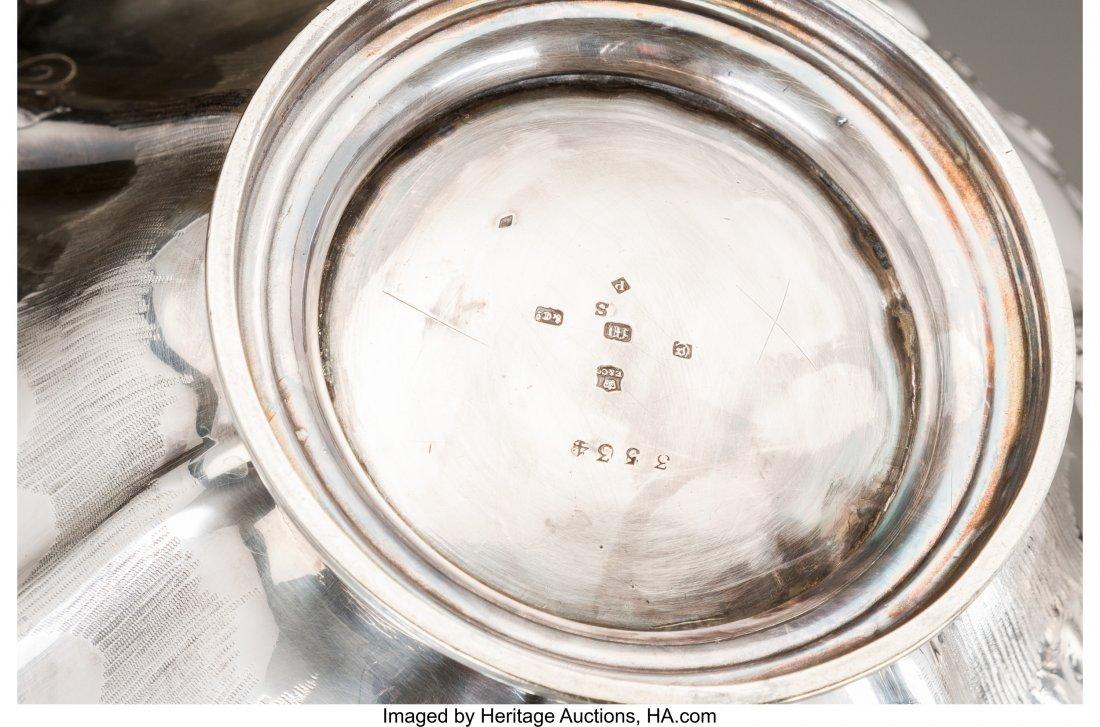 61195: A Three-Piece Adam Elder Partial Gilt Silver Tea - 3