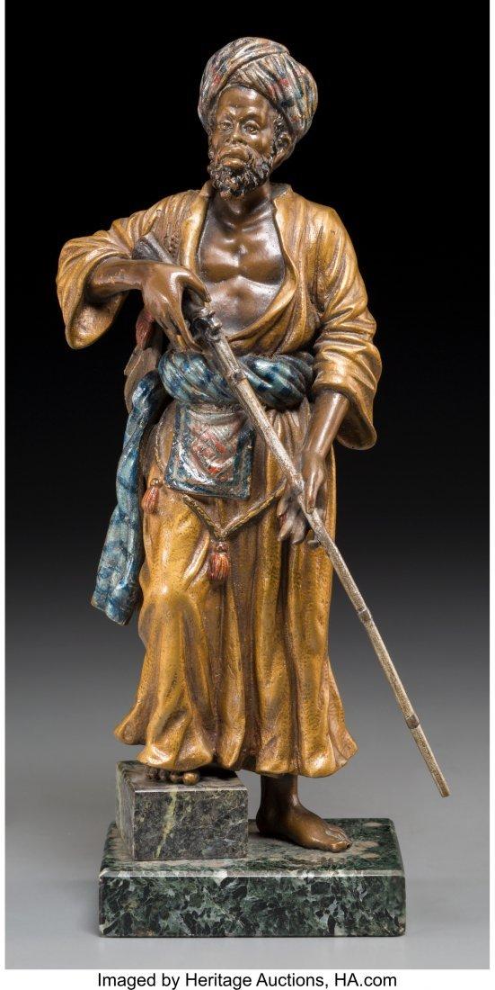 61334: A Bergman-Style Cold-Painted Bronze Figure: Arab