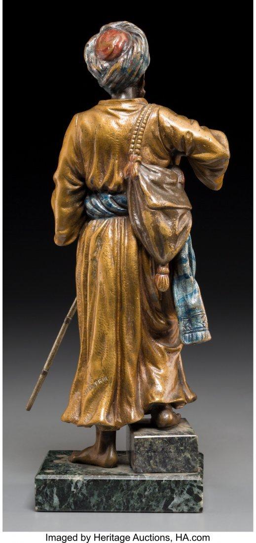 61334: A Bergman-Style Cold-Painted Bronze Figure: Arab - 2
