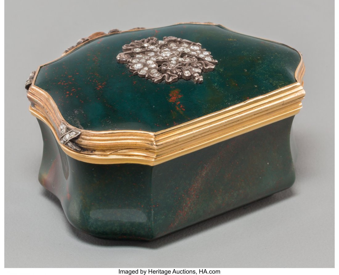 61348: A Faberge-Style 14K Gold, Diamond, and Bloodston - 2