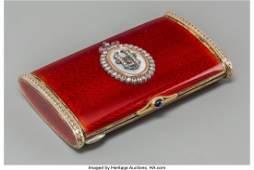 61349 A FabergeStyle Enamel Gold Silver Diamond a