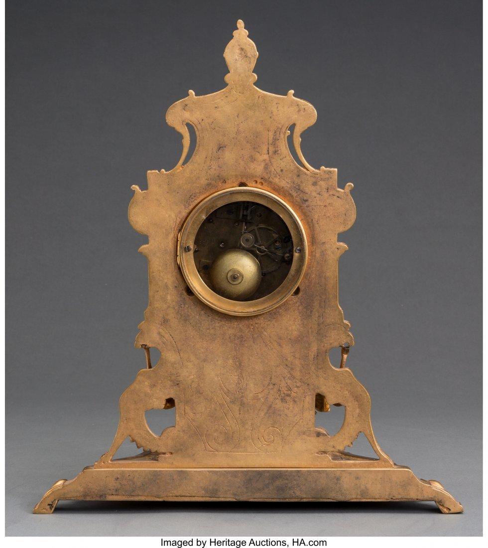 61473: A Louis XV-Style Gilt Bronze Clock, third quarte - 2