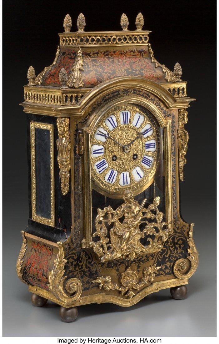 61498: A Louis XVI-Style Faux Boulle Figural Bracket Cl