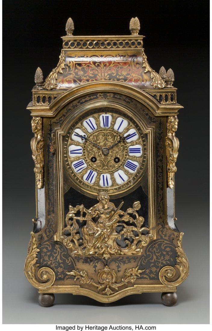 61498: A Louis XVI-Style Faux Boulle Figural Bracket Cl - 2
