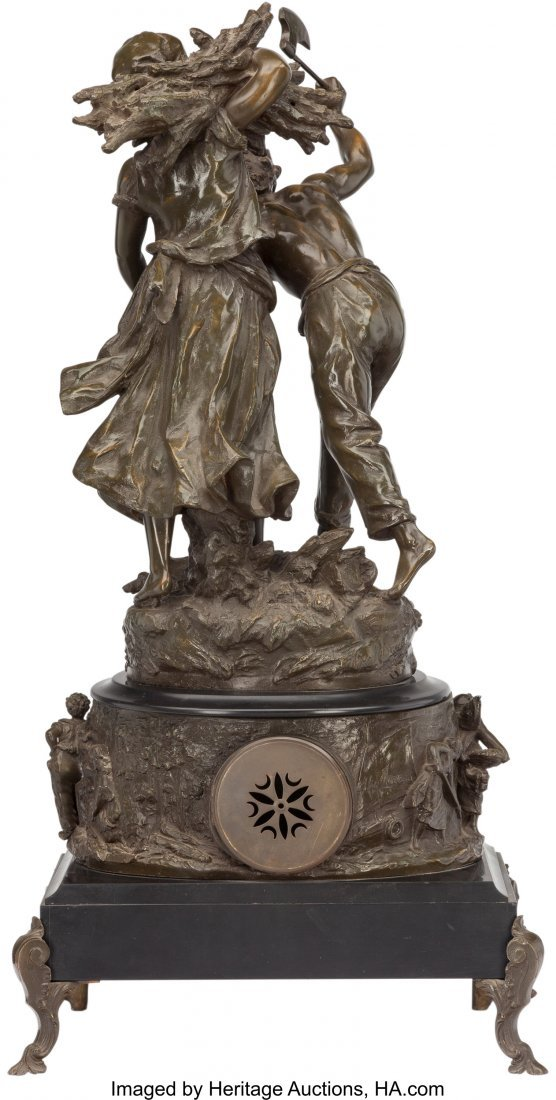 61502: A French Beaux Arts Figural Mantel Clock, early  - 2
