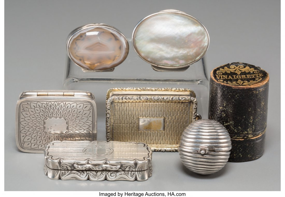 61367: Seven Various Silver, Glass, and Mixed Media Snu