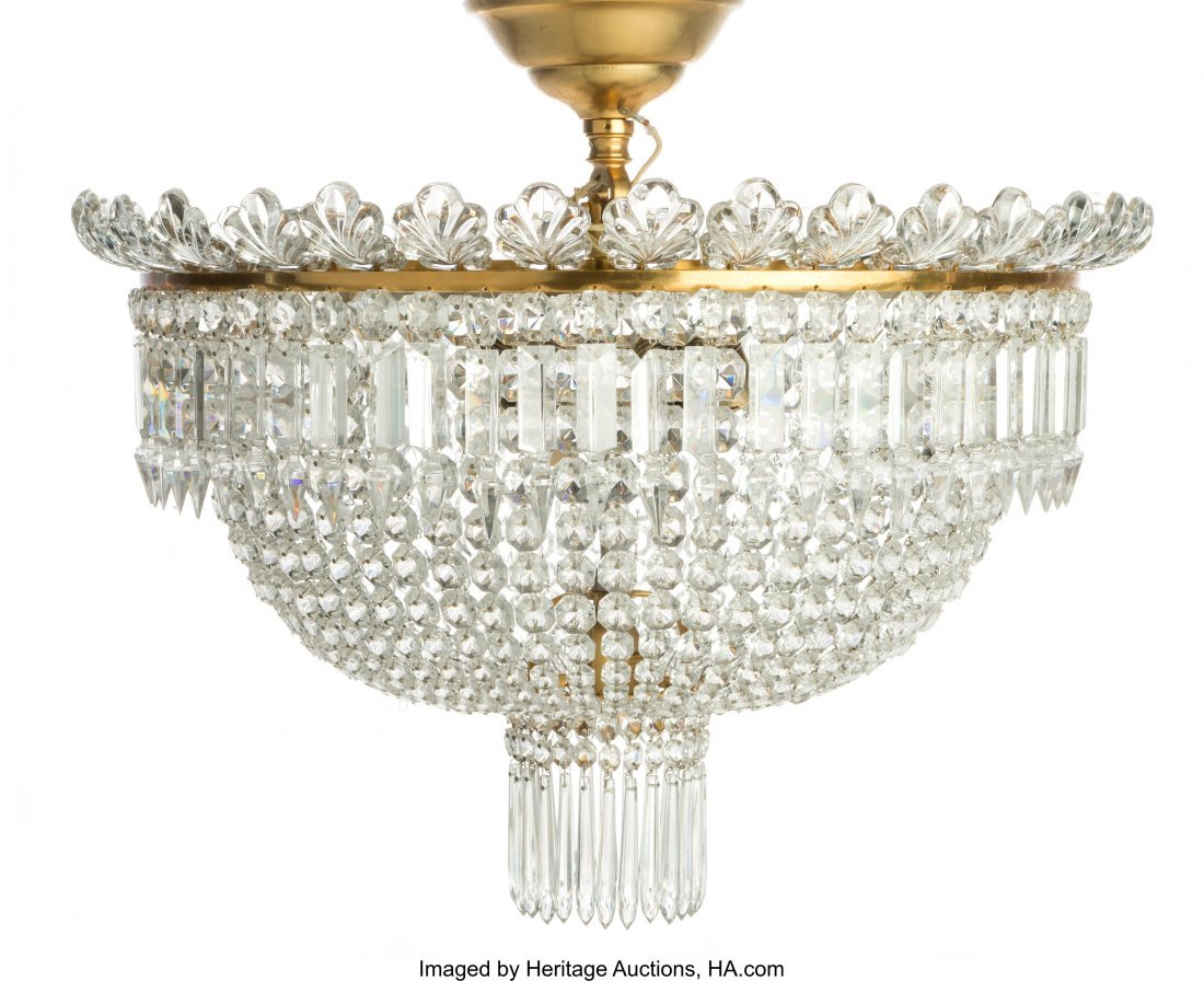 61515: A Baccarat Cut Crystal Perles Six-Light Plafonni