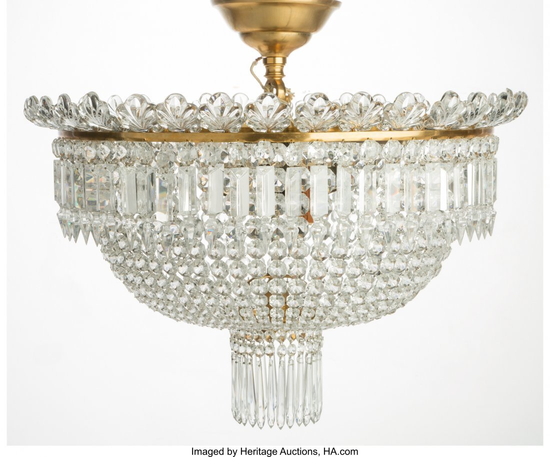 61515: A Baccarat Cut Crystal Perles Six-Light Plafonni - 2