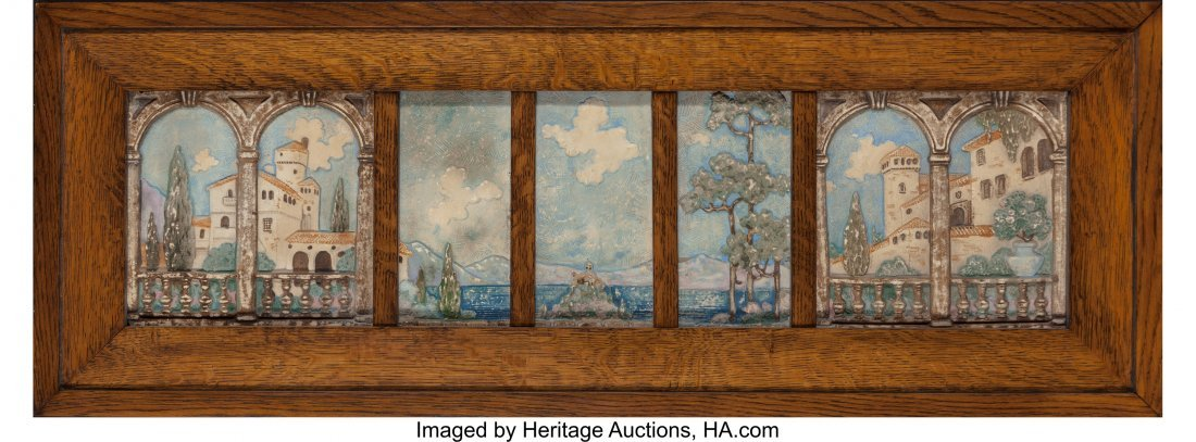 61372: A Group of Five Framed Claycraft Arts & Crafts P - 2