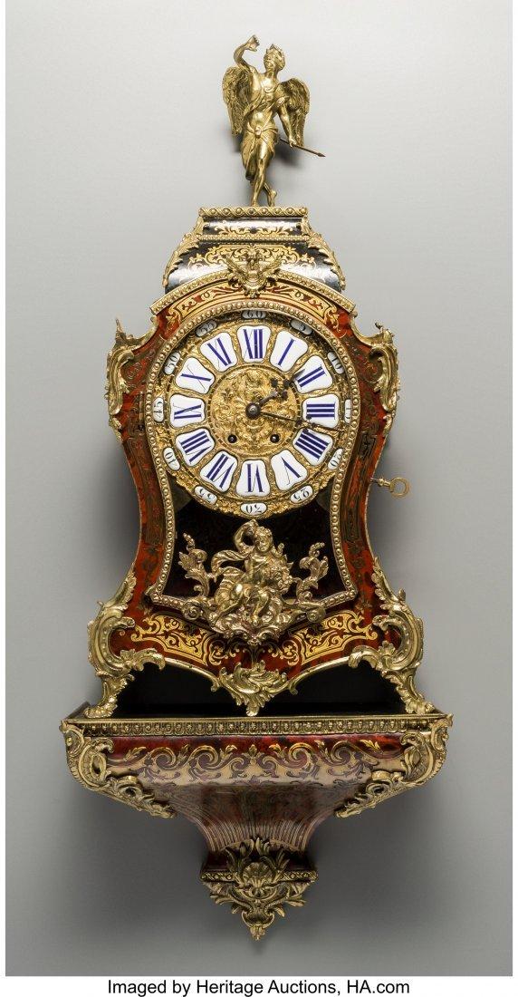 61522: A Louis XVI-Style Faux Boulle Bracket Clock, lat