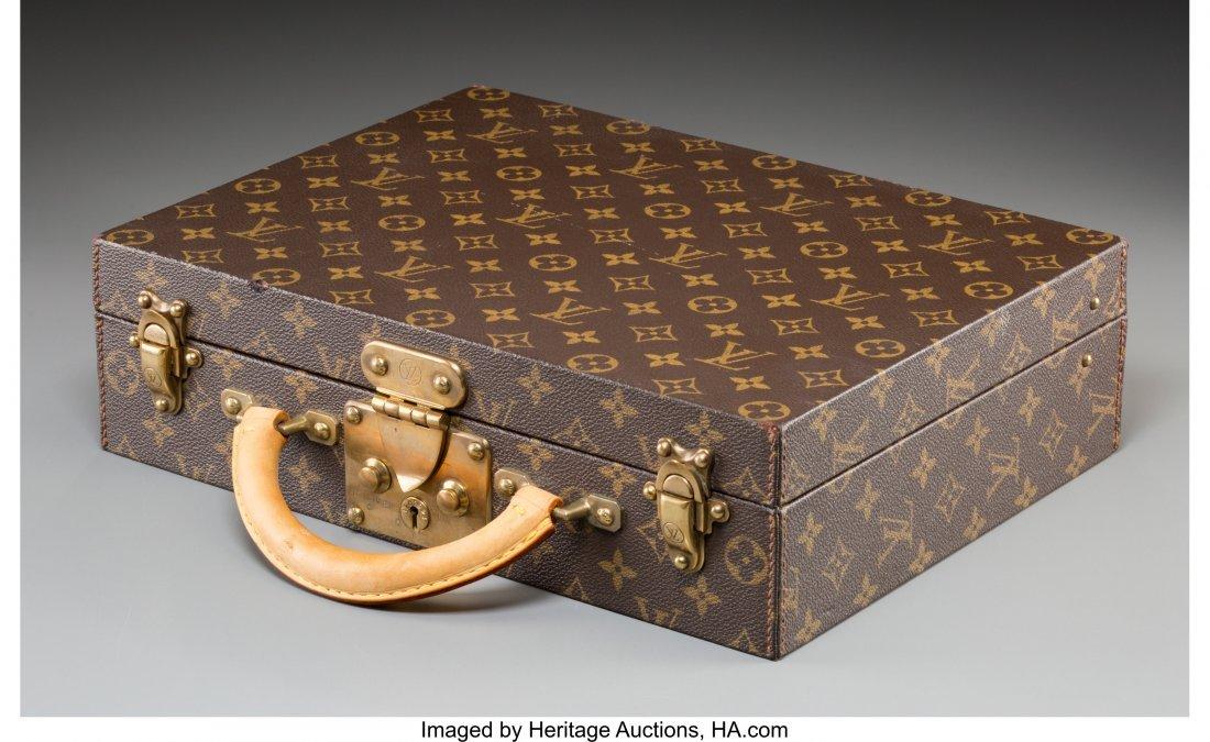 61374: A Louis Vuitton Classic Monogram Leather Briefca