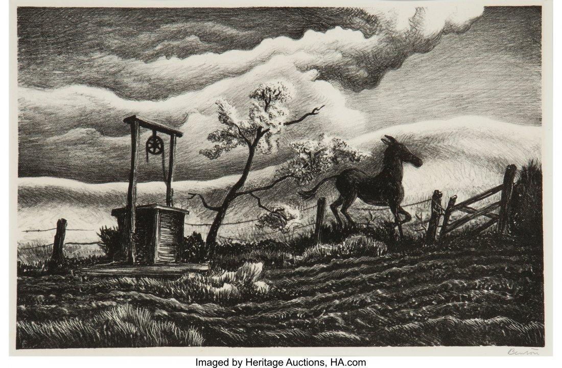 61685: Thomas Hart Benton (American, 1889-1975) Frisky