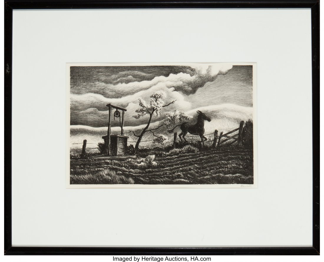 61685: Thomas Hart Benton (American, 1889-1975) Frisky  - 3