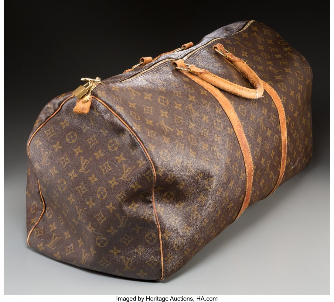 61375: A Louis Vuitton Classic Monogram Leather Duffle