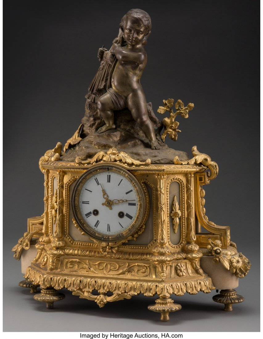 61530: A Louis XVI-Style Gilt and Painted Bronze Figura