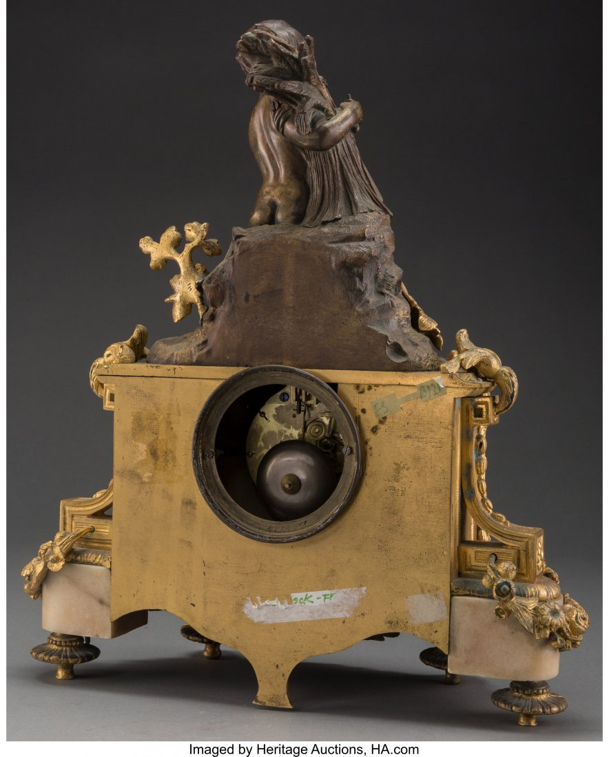 61530: A Louis XVI-Style Gilt and Painted Bronze Figura - 2