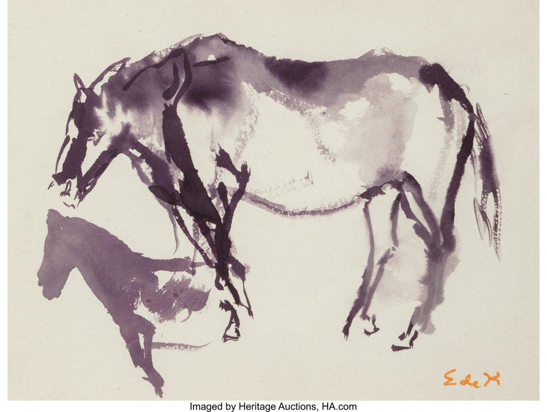 61701: Elaine de Kooning (American, 1919-1989) Horse- E