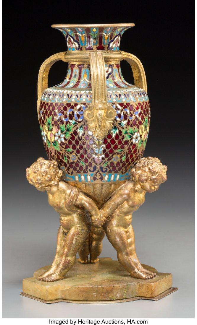 61557: A Diminutive Continental Gilt Bronze, Gilt Metal - 2