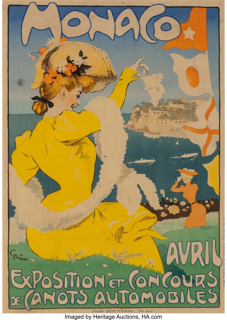 61651: Jules Alexandre Grün (French, 1868-1934) Monaco