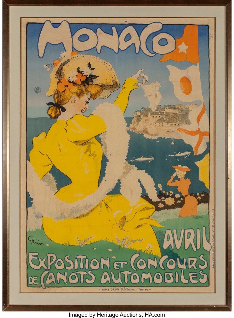 61651: Jules Alexandre Grün (French, 1868-1934) Monaco - 2