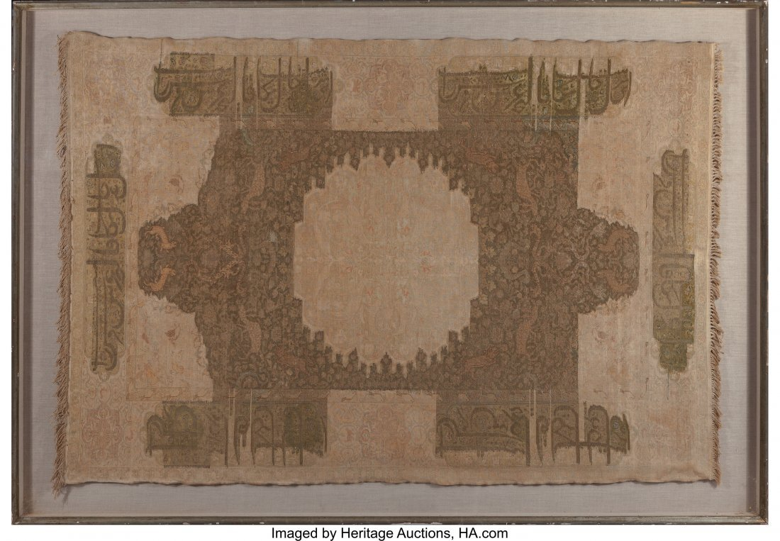 61570: A Large Framed Kayseri Rug 72 inches high x 103-