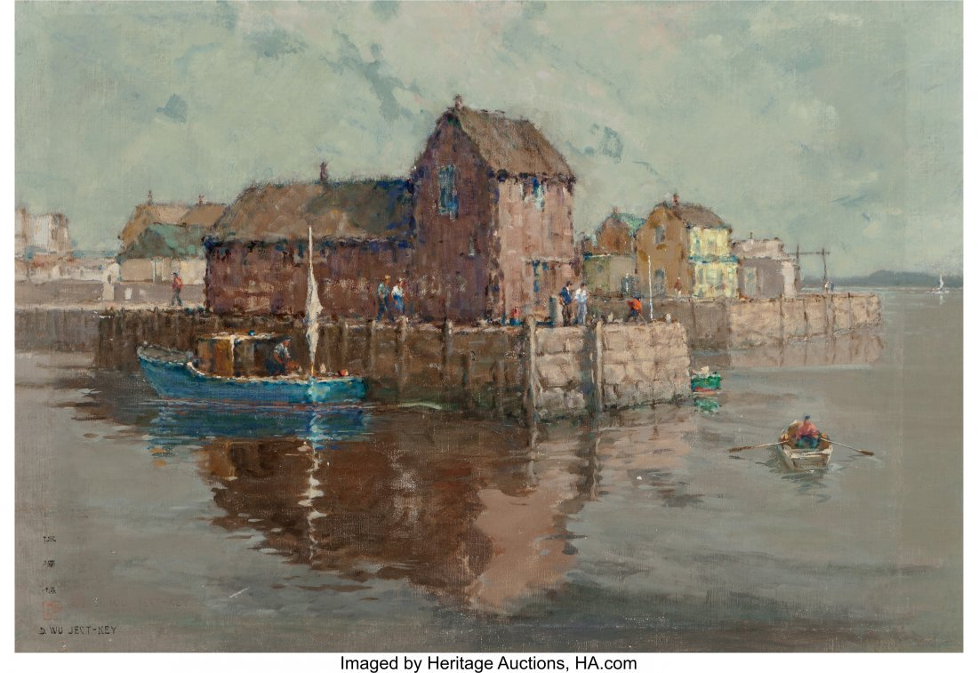 61658: David Ject-Key (American, 1890-1968) Harbor View