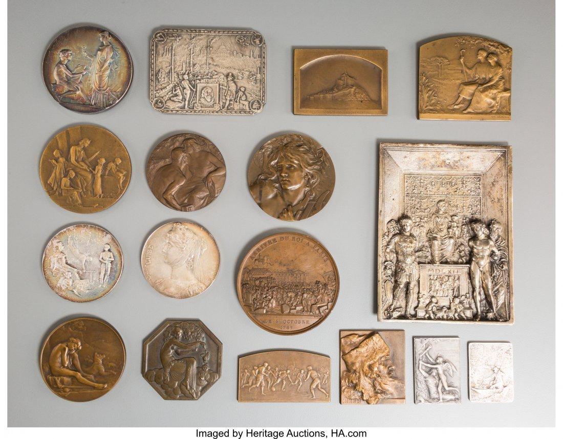 61723: Seventeen Various European Silver, Bronze, Silve