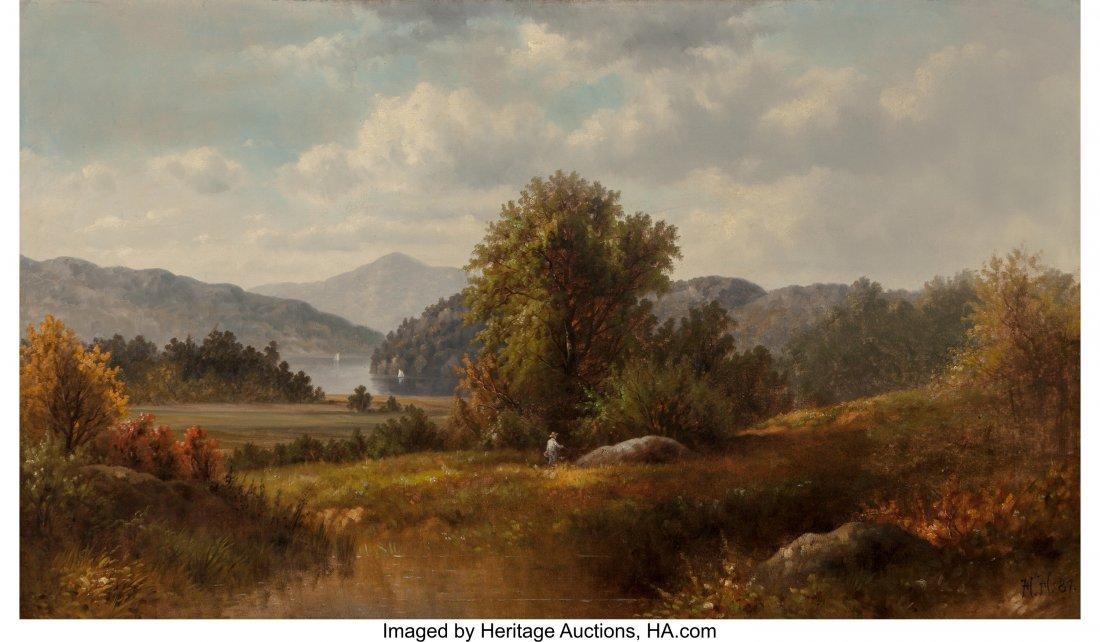 61661: American School (Late 19th Century) Hudson River