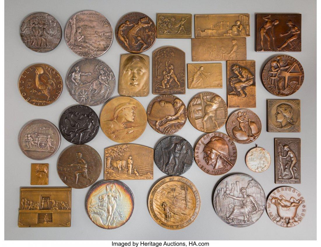 61724: Thirty-Three French, German, and Austrian Bronze