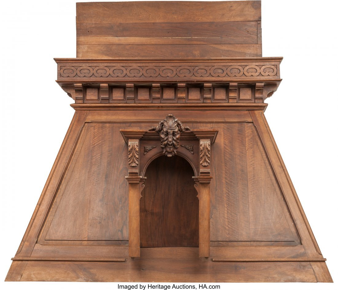 61735: A Monumental Renaissance Revival Carved Walnut F - 3