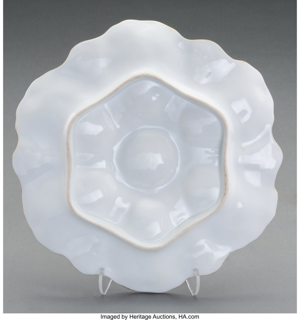 61862: Six Porcelain Oyster Plates 9-1/2 inches diamete - 2