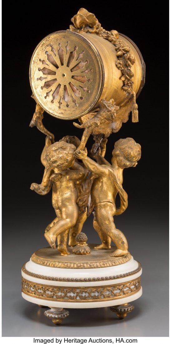 61879: A Louis XVI-Style Gilt Bronze Figural Mantel Clo - 2