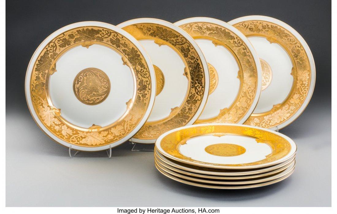 61898: A Group of Nine Rosenthal Gilt Porcelain Floral