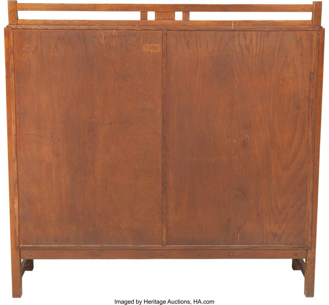 61982: A Limbert Arts & Crafts Oak and Glazed China Cab - 2