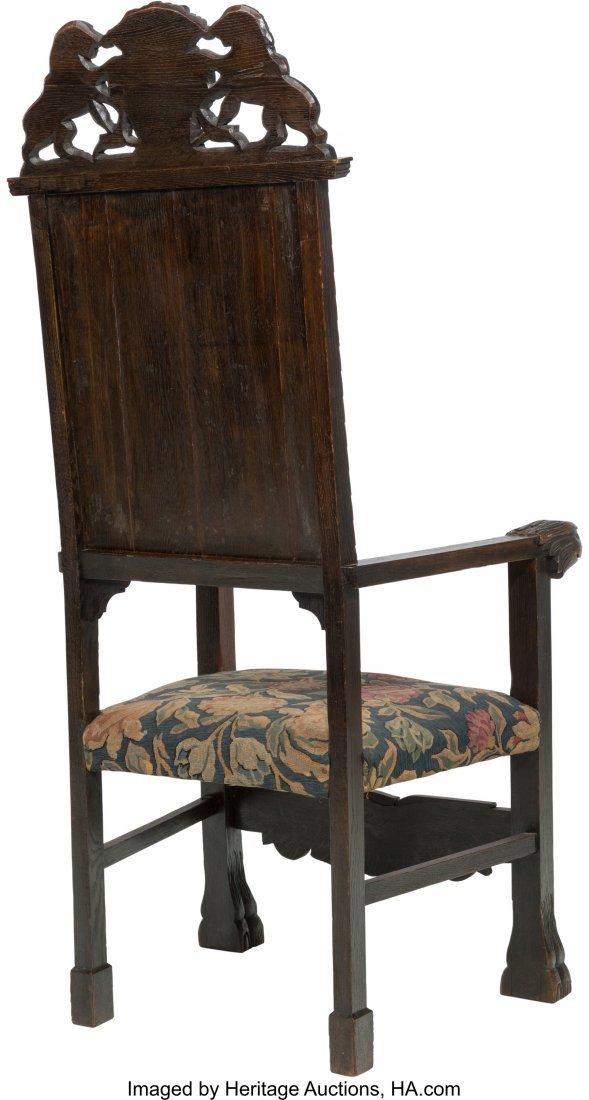 62060: A Renaissance Revival Carved Oak Armchair, 19th - 2