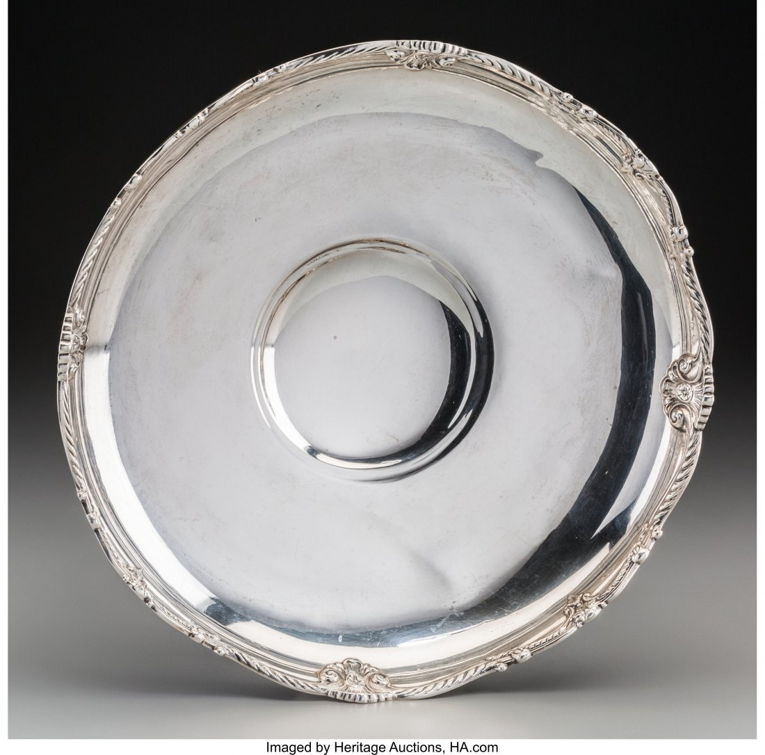 61920: An American Silver Low Bowl, 20th century Marks: