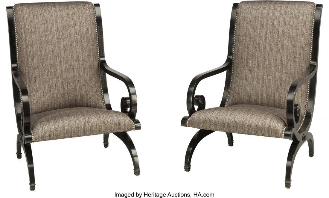 62007: A Pair of Biedermeier Revival Side Chairs, late