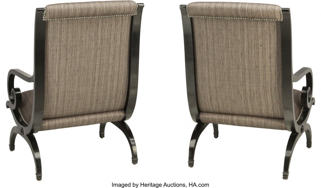 62007: A Pair of Biedermeier Revival Side Chairs, late - 2