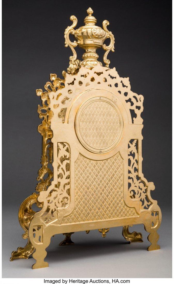 62086: A Lancini Italian Gilt Bronze Mantel Clock Marks - 2