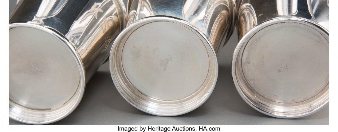 61935: Six Silver Mint Julep Cups, mid-20th century Mar - 2