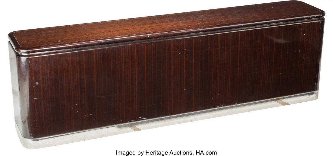 62089: A Large Art Deco Mahogany and Chrome Credenza, l - 2