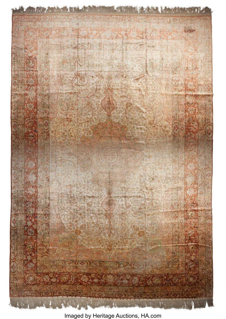 62093: A Kayseri Silk Carpet 18 feet 6 inches long x 12