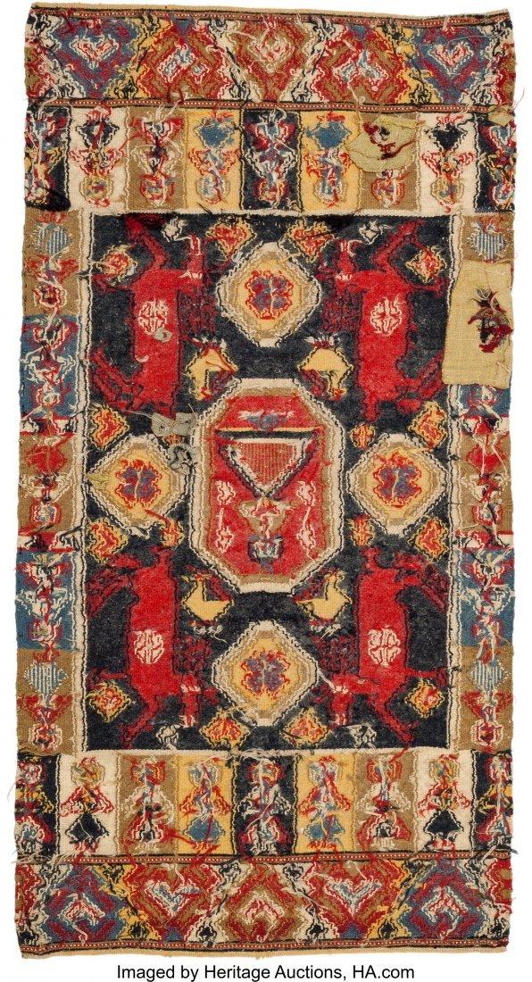 62094: A Swedish Wool Kilim Rug 3 feet-6 inches x 1 foo - 2