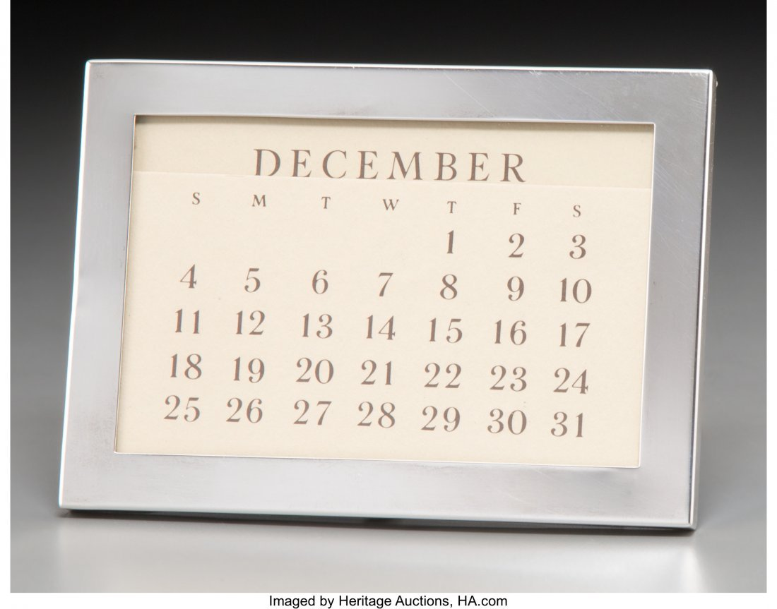 61943: A Tiffany & Co. Silver Calendar Frame, New York