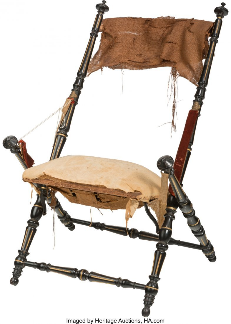 62112: An American Aesthetic Movement Folding Chair, in